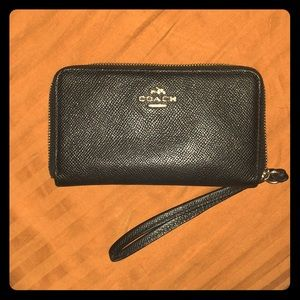 Coach Small Zip Around Wristlet